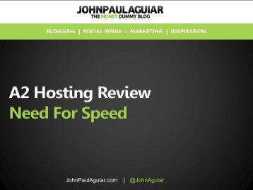 My A2 Hosting Review