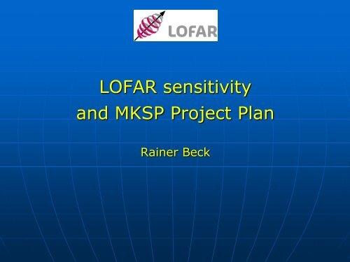 MKSP sensitivity issues Rainer Beck