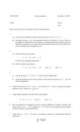 MATE 4009 Final examination December 16, 2009 Name: section ...