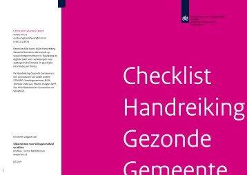 Checklist Handreiking Gezonde Gemeente - Loket Gezond Leven