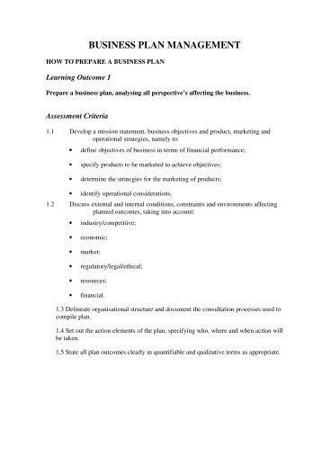 How To Prepare a Business Plan - Gmservices.com.au
