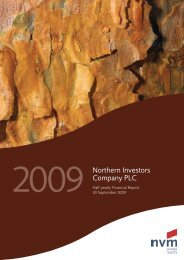Half-yearly financial report - NVM Private Equity Ltd.