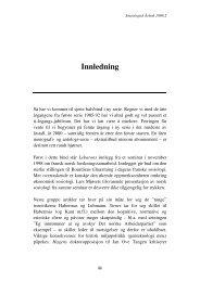 Innledning - Sosiologisk årbok