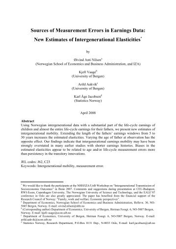 Sources of Measurement Errors in Earnings Data - Empirical Labor ...