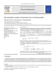Discrete Mathematics The asymptotic number of spanning ... - UPRM