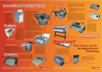 Dumor Guide to Digital Print Finishing - Hambleside International