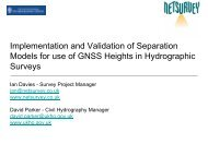 Implementation and Validation of Separation Models for use of ...