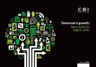 Tomorrow's growth: New routes to higher skills - CBI