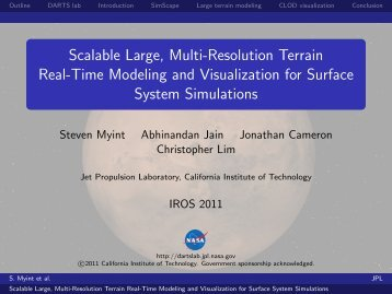 Scalable Large, Multi-Resolution Terrain Real-Time ... - DARTS Lab