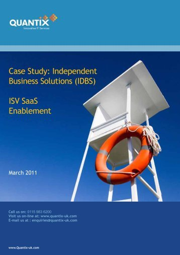 Case Study: Independent Business Solutions (IDBS) ISV ... - Interoute