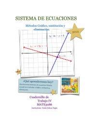 4.4 Sistema de ecuaciones