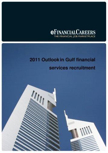 2011 Outlook in Gulf financial services recruitment - Pedersen ...