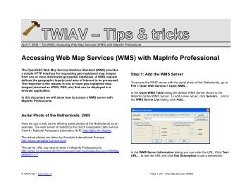 Accessing Web Map Services (WMS) with MapInfo ... - TWIAV