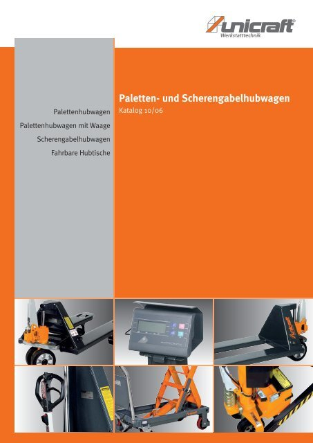 Paletten- und Scherengabelhubwagen