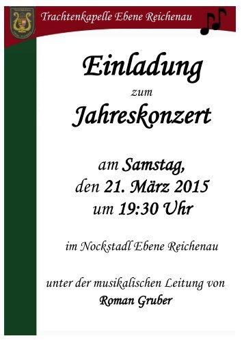 Einladung 2015
