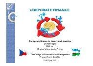 CORPORATE CORPORATE FINANCE - IES