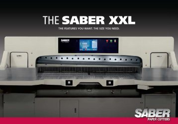 THE SABER XXL - Tompkins