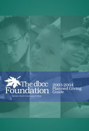 2003-2004 Planned Giving Guide - Daytona State College