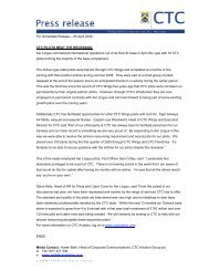 For Immediate Release – 25 April 2009 CTC PILOTS ... - CTC Aviation