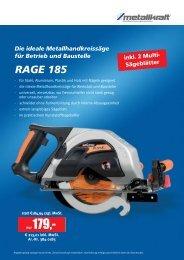 Die ideale Metallhandkreissäge für Betrieb und Baustelle RAGE 185