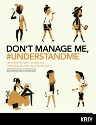 DON'T MANAGE ME, #UNDERSTANDME - Kelly Services