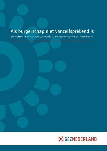 gesprekswijzer - GGZ Nederland
