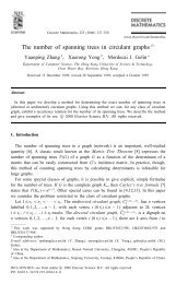 The number of spanning trees in circulant graphs - ScienceDirect