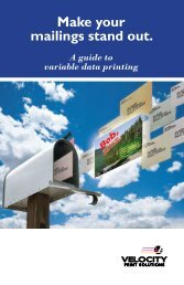 Make your mailings stand out. - Velocity Print Solutions