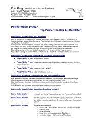 Primer Daten und Fakten Holz - Werkzeugbedarf24.de