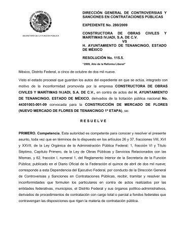 México, Distrito Federal, a veinticinco de septiembre de dos mil nueve