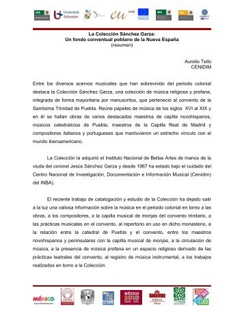 La Colección Sánchez Garza: Un fondo conventual poblano de la ...