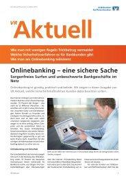 Onlinebanking - Eine sichere Sache.