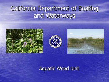 California Department of Boating and Waterways Presentation on ...