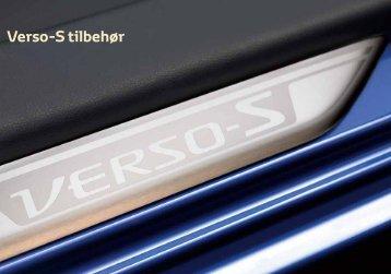 Verso-S tilbehør - Toyota