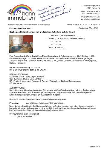 Exposé im PDF-Format - Hahn-Immobilien