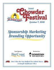 sponsor mailer packet.cdr - Downtown New Bedford, Inc.