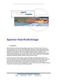 Spanner Holz-Kraft-Anlage - Josef Strobl