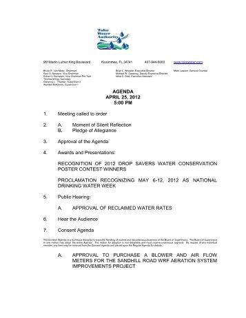 April 25, 2012 - Toho Water Authority