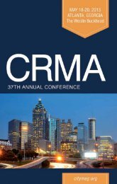 exciting program available - City and Regional Magazine Association