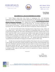 MoU SIGNED BY UTL , LDCL & CSL FOR ... - Cochin Shipyard