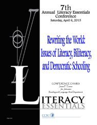 2013 Conference - Department of Reading and Language Arts ...