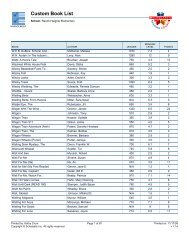 Custom Book List (Page 2) - Bartlesville Public Schools