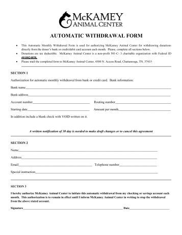 Withdrawal form