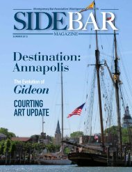 Destination: Annapolis - Montgomery Bar Association