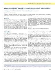 Farmaci antidepressivi, intervallo QT e rischio cardiovascolare ...
