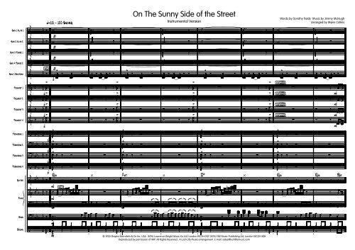 Sunny Side Instrumental Published Score - Lush Life Music