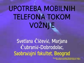 UPOTREBA MOBILNIH TELEFONA TOKOM VOŽNJE