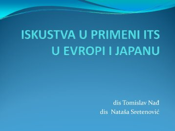 4. iskustva evropskih zemalja i japana u primeni its-a