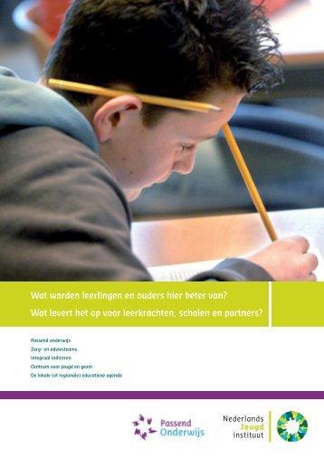 Passend onderwijs en andere ontwikkelingen in de jeugdsector