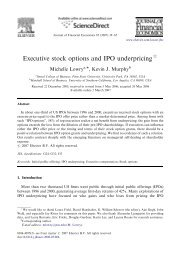 Executive stock options and IPO underpricing - G. William Schwert